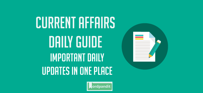 Daily Current Affairs 24 March 2019