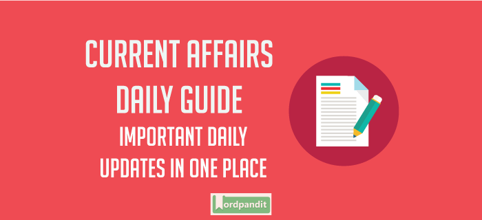 Daily Current Affairs 31 July 2017