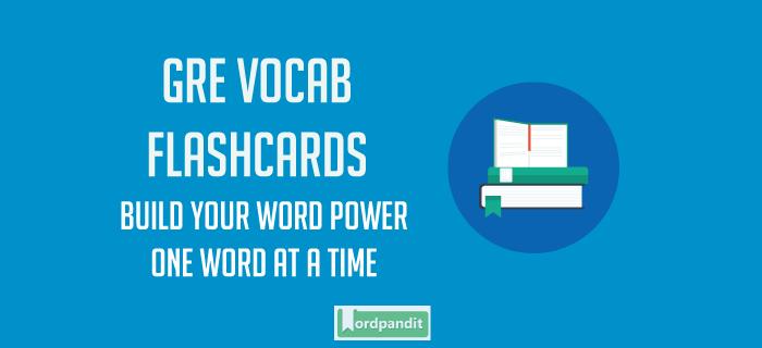 Acumen GRE Vocabulary Flashcard