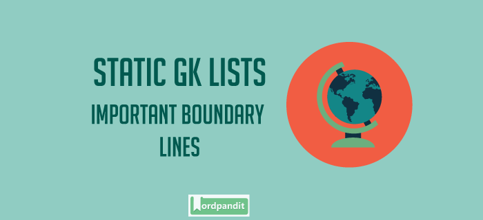 List of important Boundary Lines