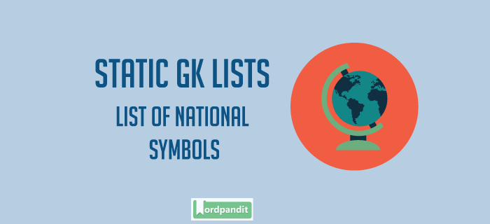 List Of National Symbols Wordpandit