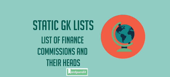 List of Finance Commissions and their heads