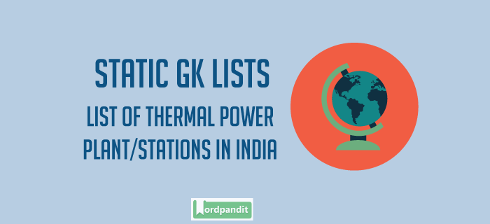 List of thermal power stations in India