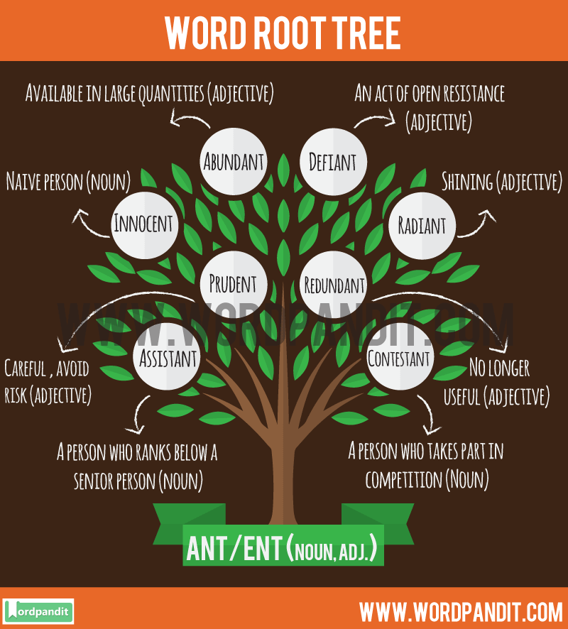 Ant/Ent Root Word: Learn words related to word root Ant/Ent