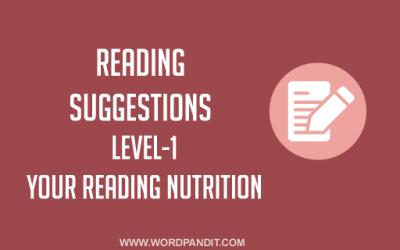 Reading Suggestion-5 (Level-1)