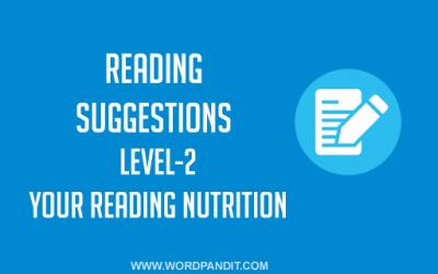 Reading Suggestion-1 (Level-2)