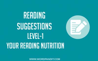 Reading Suggestion-2 (Level-1)