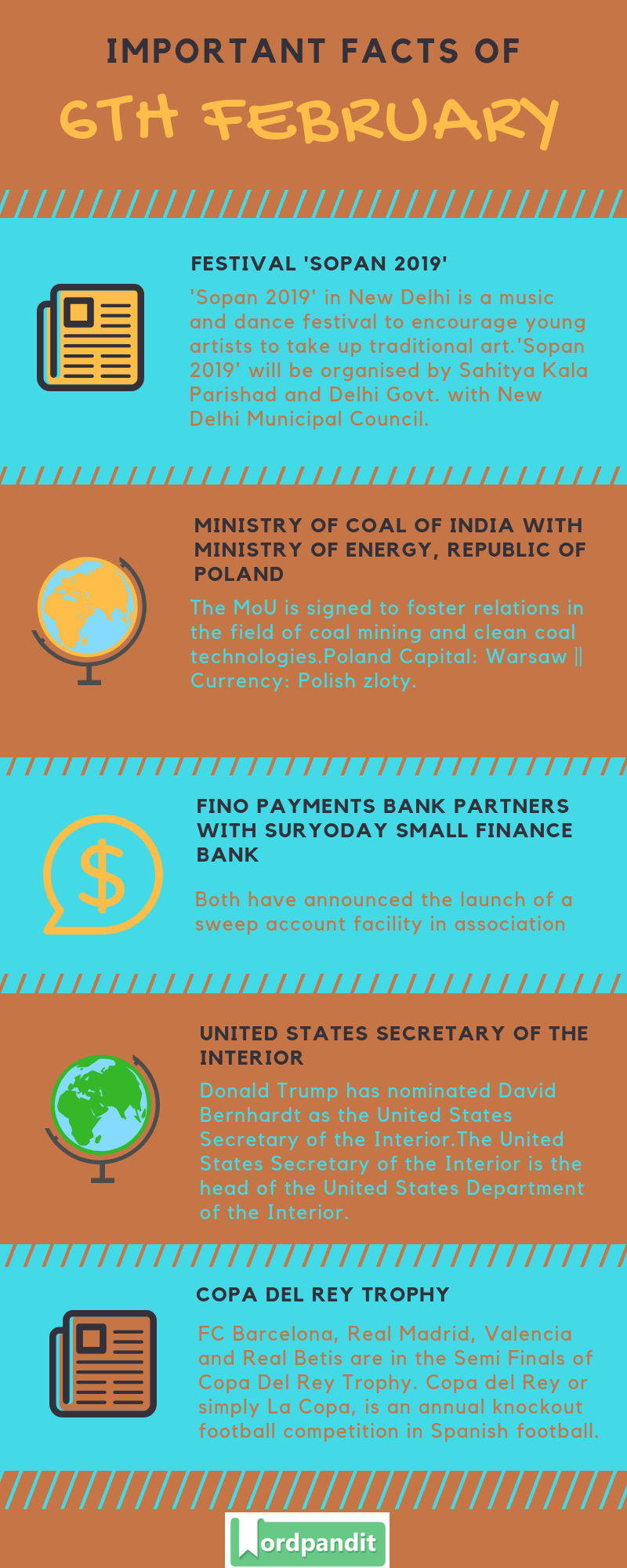 Daily Current Affairs 6 February 2019 Current Affairs Quiz 6 February 2019 Current Affairs Infographic