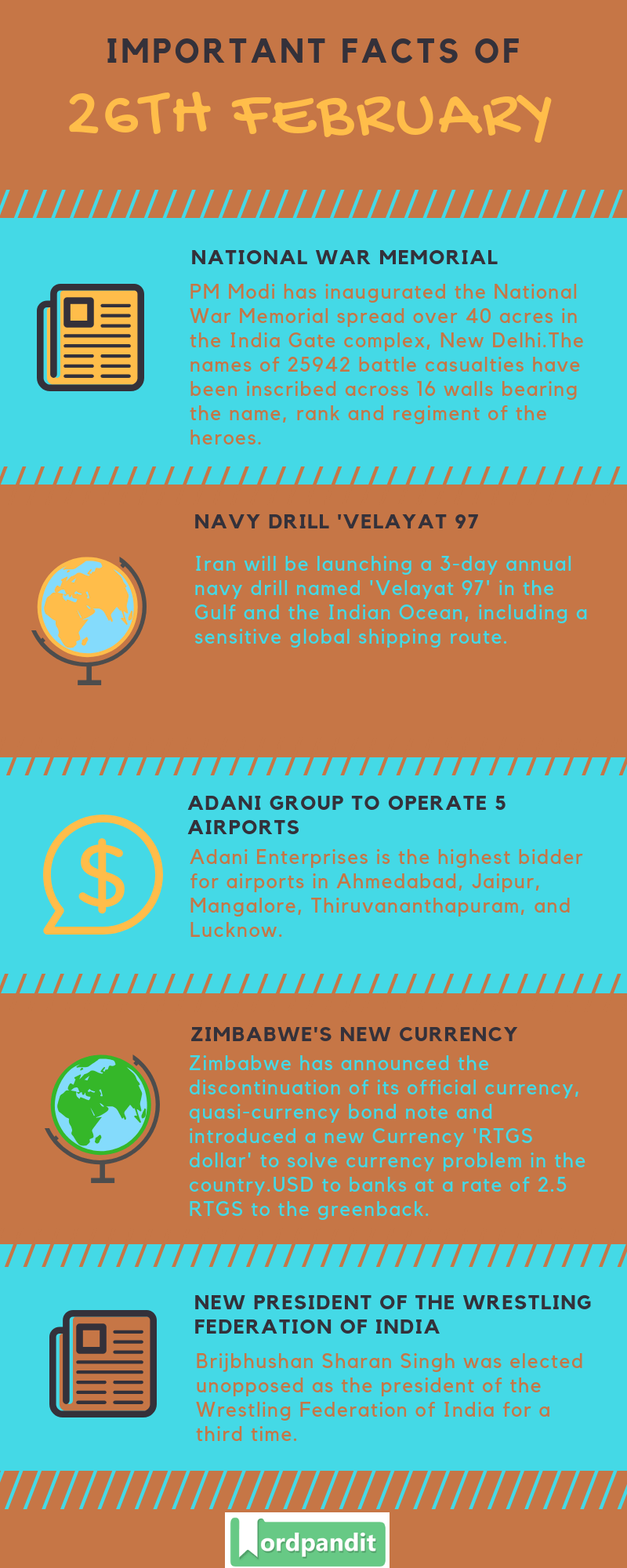 Daily Current Affairs 26 February 2019 Current Affairs Quiz 26 February 2019 Current Affairs Infographic