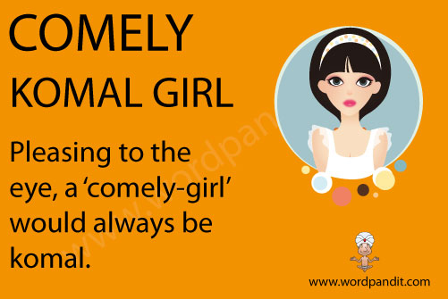 picture and mnemonic for comely