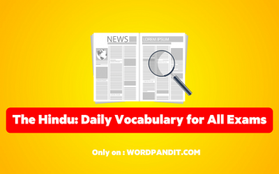 Daily Vocabulary from The Hindu: December 23, 2019